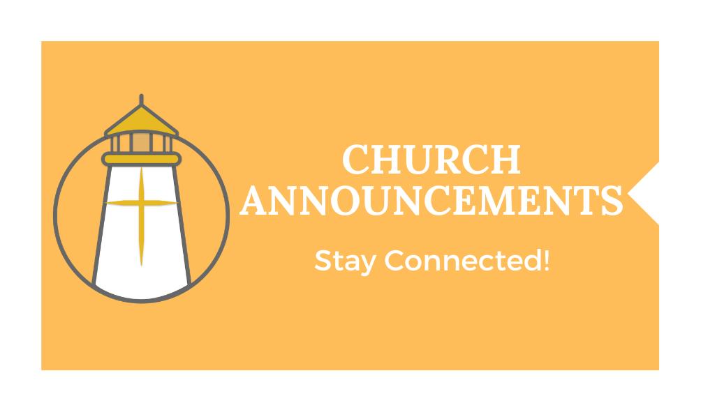 Church Announcements
