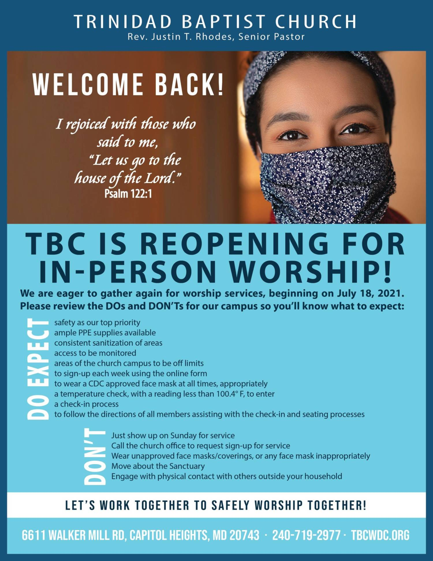 TBC Re Opening